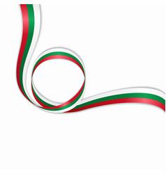 Bulgarian wavy flag background vector