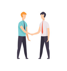 Businessmen are handshaking business meeting vector