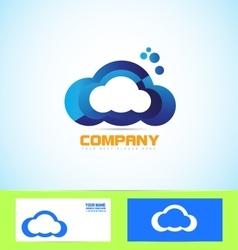 Cloud logo icon computing technology concept vector image