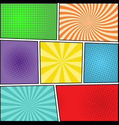 Comic book blank background vector