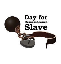 Concept on day for the abolition of slavery image vector