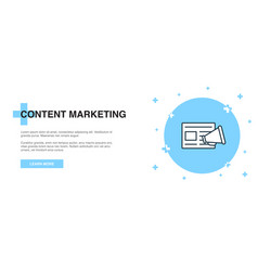 content marketing line icon simple icon banner vector image
