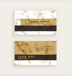Creative marble texture business card design vector