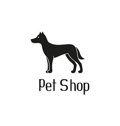 Cute pet shop logo with dog vector
