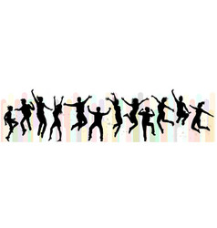 Dance and jumping vector