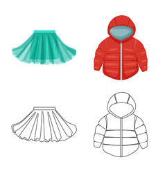 Design fashion and garment symbol vector