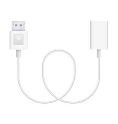 display port to adapter vector image