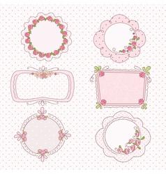 Doodle vintage frames vector