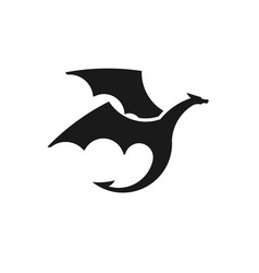 dragons silhouettes logo vector image