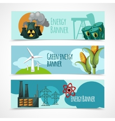 Energy Banner Set vector image