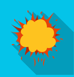 Explosion single icon in flat styleexplosion vector
