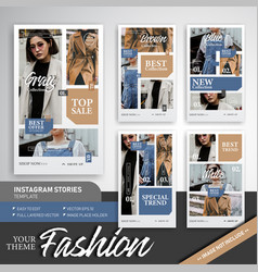 Fashion trend sale instagram story template vector