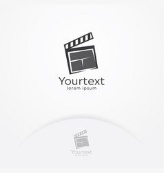 film entertainment logo vector image