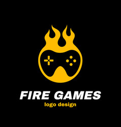 Fire games icon vector