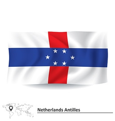 Flag of Netherlands Antilles vector image