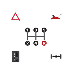 Flat icon service set of suspension lifting vector