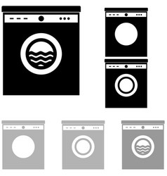 grey and black washer on the white background vector image