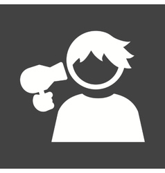 Hair Drying vector image