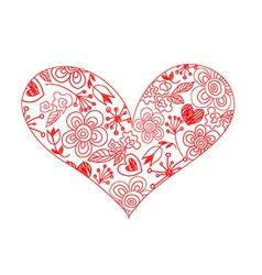 Hand drawn sketchy hearts vector