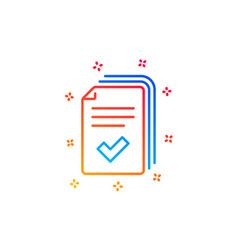 Handout line icon documents example sign vector