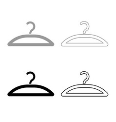 hanger icon outline set grey black color vector image
