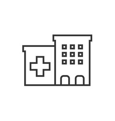 Hospital building icon in flat style infirmary on vector