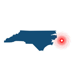 hurricane on north carolina vector image