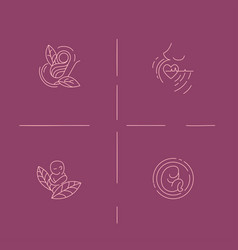 icon and logo for pegnancy and gynecology vector image