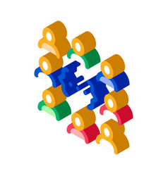 idea discussion isometric icon vector image
