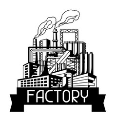 Industrial factory background vector