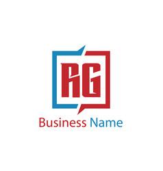 Initial letter rg logo template design vector