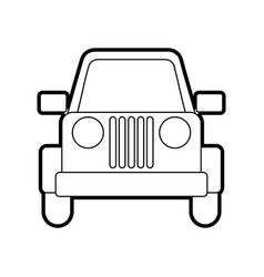 Jeep car vehicle transport camping adventure vector