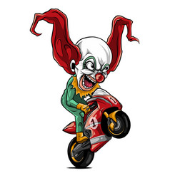 Joker biker motorcycle rider vector