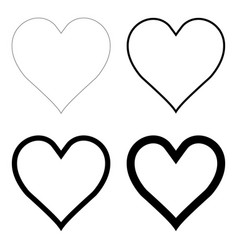 like heart symbol icon contour outline live vector image