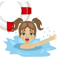 Little girl screaming in water vector
