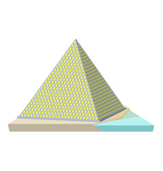 Louvre pyramid icon cartoon style vector