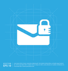 Message secure icon vector