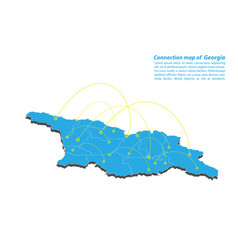 Modern of georgia map connections network design vector