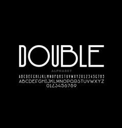 Modern sans serif font vector