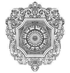 Old botanical vignette vector