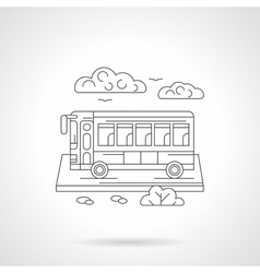 Passenger bus detailed line vector image