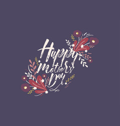 postcard with inscription happy mother s day vector image