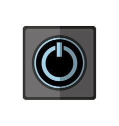 Power button start icon vector