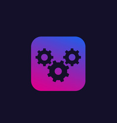 Preferences icon with gears cogwheels vector