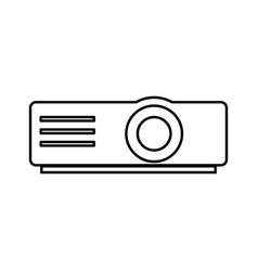 Projector black color icon vector