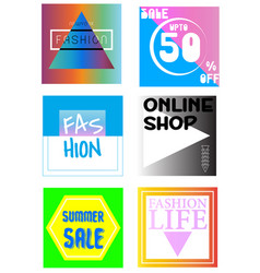 sale and fashion banner graphic vector image