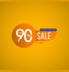 Sale special offer up to 90 limited time only vector