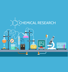 science chemical laboratory vector image