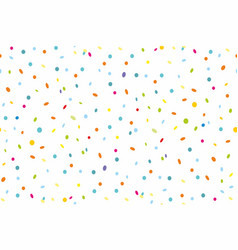 Seamless pattern of colorful confetti vector