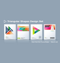 Set of abstract business design annual report vector